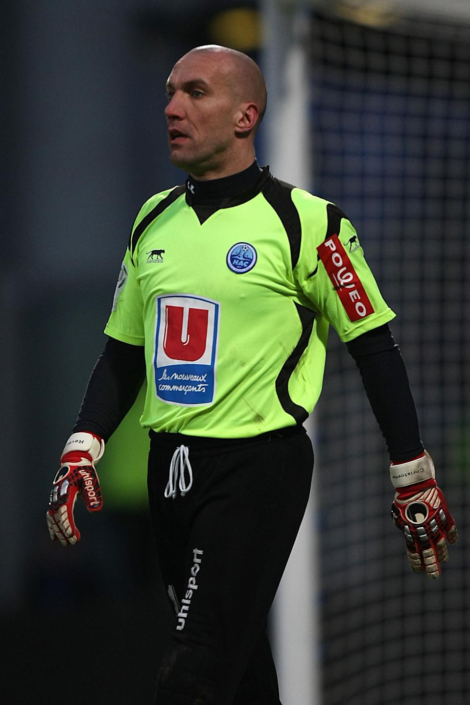 Le Havre AC goalkeeper Christophe Revault  (Photo by John Walton - PA Images via Getty Images) (Photo: John Walton - EMPICS via Getty Images)