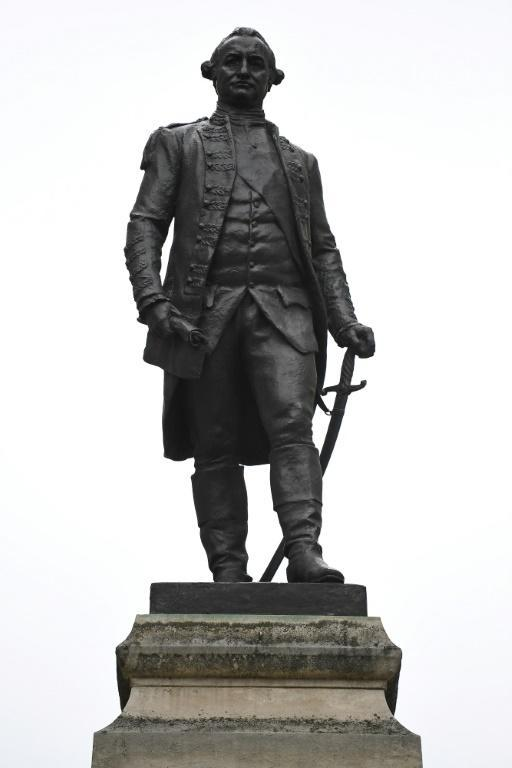 A statue of Robert Clive, better known as Clive of India, in central London