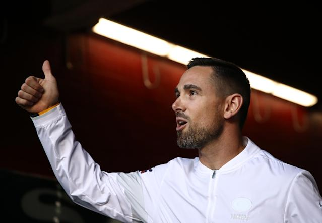 """<a class=""""link rapid-noclick-resp"""" href=""""/nfl/teams/green-bay/"""" data-ylk=""""slk:Packers"""">Packers</a> head coach Matt LaFleur was once blocked from interviewing his brother for a job in Green Bay. The NFL on Tuesday changed that rule. (Photo by Ezra Shaw/Getty Images)"""