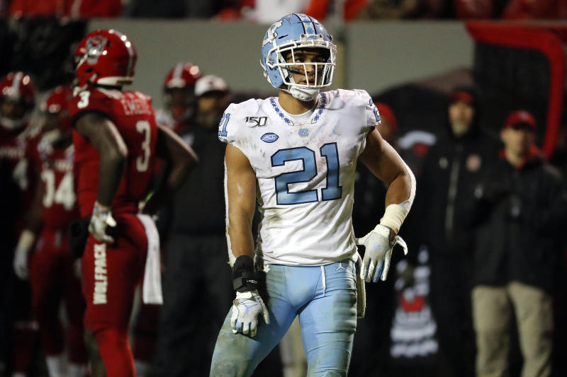 North Carolina's Chazz Surratt (21) is an emerging playmaker in the ACC. (AP Photo/Karl B DeBlaker)