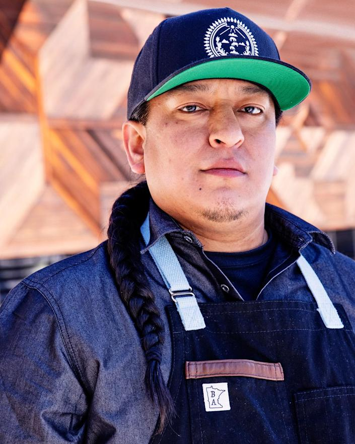 Brian Yazzie, executive chef at Gatherings Cafe