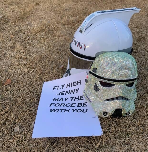 A custom Star Wars helmet was made to remember Winkler, who was a big fan of the movie series.