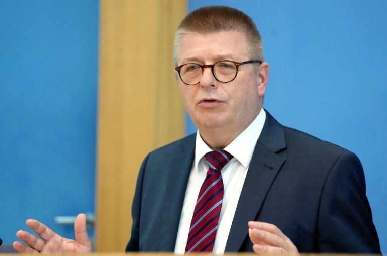 Germany's domestic intelligence service chief Thomas Haldenwang (pictured July 2021) had warned that hackers had successfully made off with personal information that could be exploited in the weeks before the general election (AFP/Michael Sohn)
