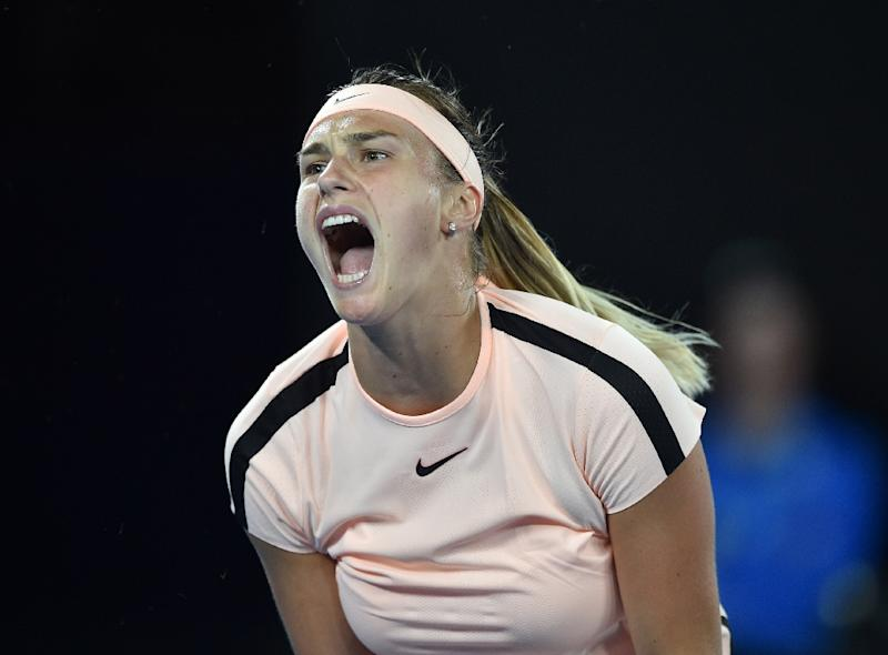 Rising Belarusian star Aryna Sabalenka's screeching got so grating in her Australian Open clash with local hope Ashleigh Barty the irritated centre court crowd began imitating her