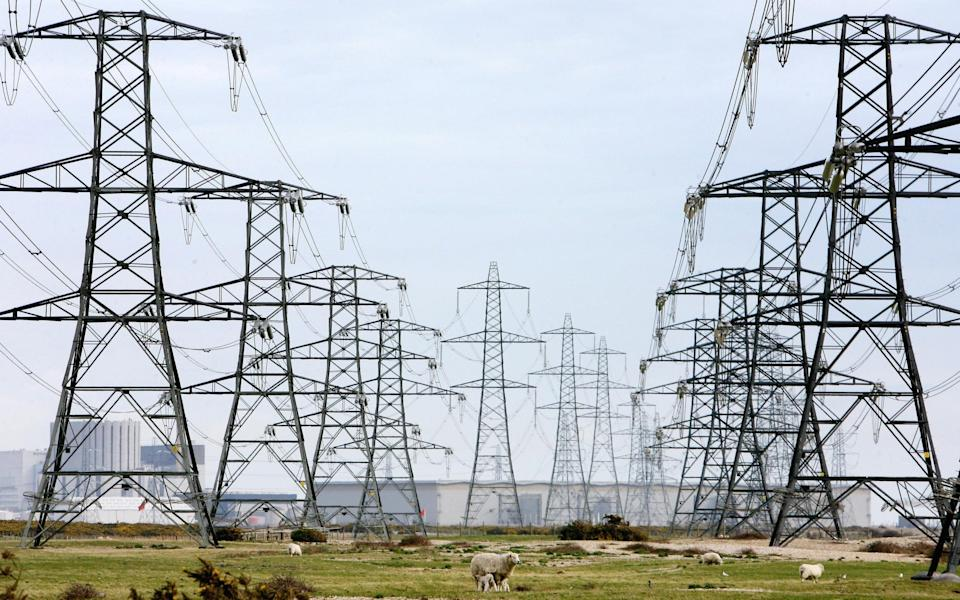 overhead power cables - UK - Gareth Fuller/PA