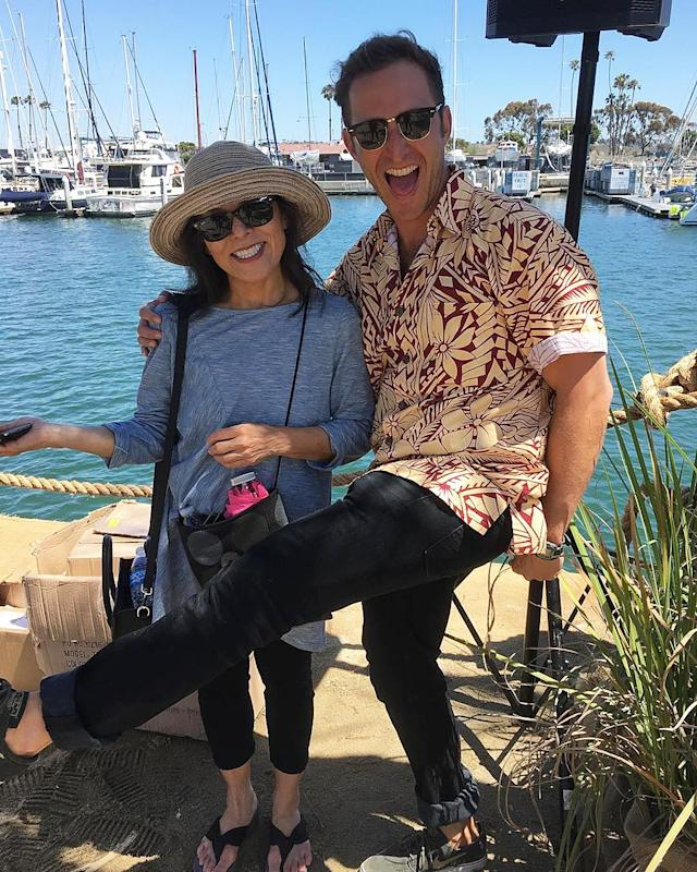 <p>My momma came to party on the barge and she had some choice words with my TV boyfriend @wgreenbe. — @allymaki #Wrecked </p>