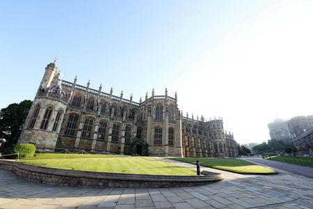 A general view of St George's Chapel, Windsor Castle ahead of the wedding of Prince Harry to Ms Meghan Markle at St George's Chapel in Windsor, Britain, May 19, 2018. Chris Jackson/Pool via REUTERS