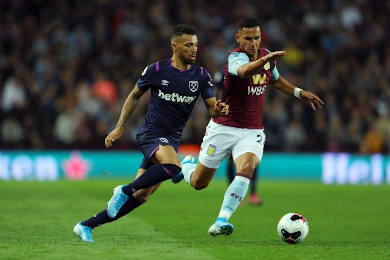 Aston Villa and West Ham couldn't be separated at Villa Park. (Photo by Richard Heathcote/Getty Images)