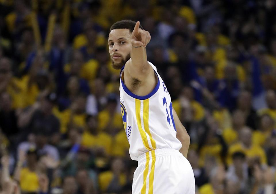 Steph Curry had 29 points and hit 6-of-9 3-pointers on Tuesday night. (AP)