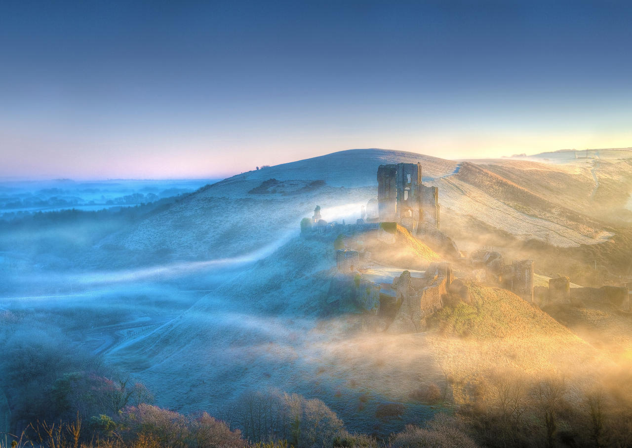 "This stunning shot of Corfe Castle, Dorset, presents the historic building in a completely new light. Taken by Mike Byford, the photo was a deserving winner in the eyes of the judges. Chris Hudson, the magazine's art editor said: ""This stunning shot was by far the judges' favourite entry across the board not only because it captures such an amazing sight, but also because Mike had the technical knowledge to shoot it in such a beautiful way."" (Mike Byford)"