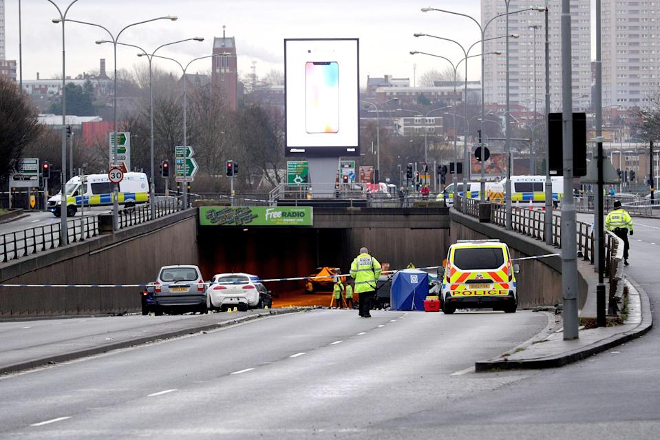 The crash happened at Belgrave and Lee Bank Middleway at the junction of Bristol Road crash (SWNS)