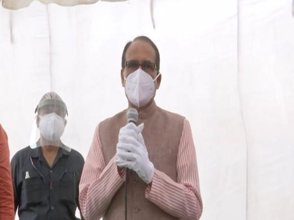 Madhya Pradesh Chief Minister Shivraj Singh Chouhan speaking at an event in Bhopal on Sunday. [Photo/ANI]