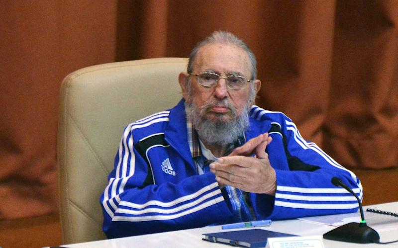 Fidel Castro attends the closing ceremony of Cuban Communist Party congress in Havana, on April 19, 2016 (AFP Photo/Omara Garcia Mederos)