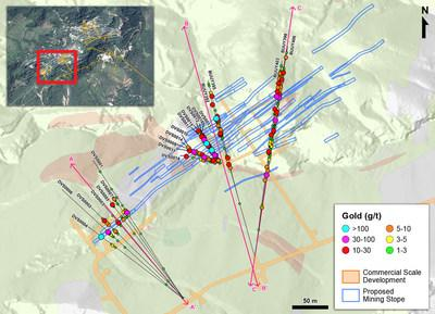 Figure 1 – Plan View of Infill and Definition Drilling in the Veta Sur System (CNW Group/Continental Gold Inc.)