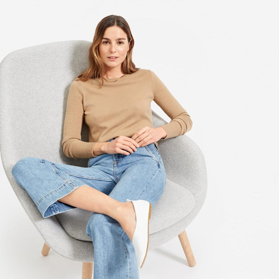 Everlane has the best deals on fall-friendly cashmere sweaters, starting at just $75! (Photo: Everlane)