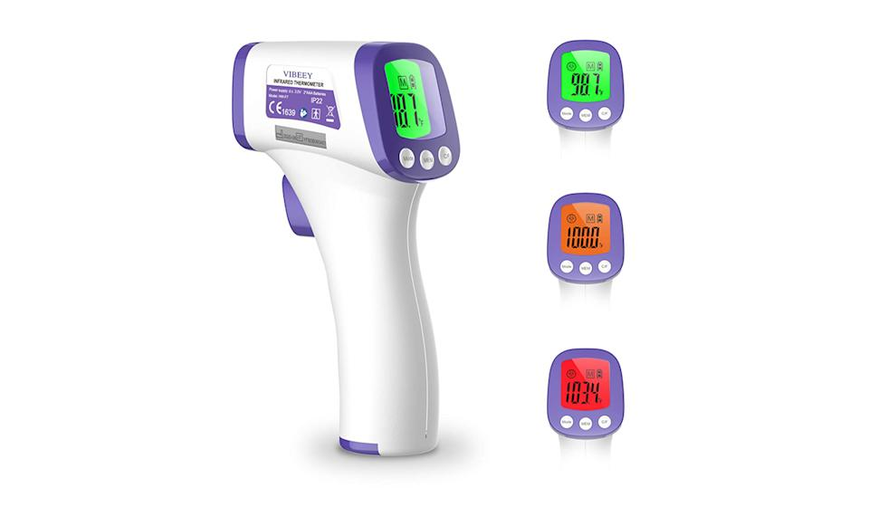 The Vibeey thermometer uses color-coded readouts. (Photo: Amazon)
