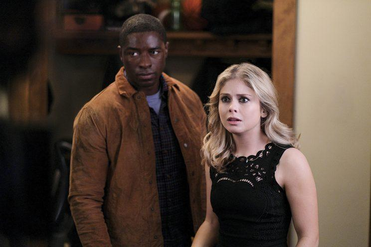 Tongayi Chirisa as Justin and Rose McIver as Liv in the CW's iZombie. (Photo Credit: Robert Falconer/The CW)