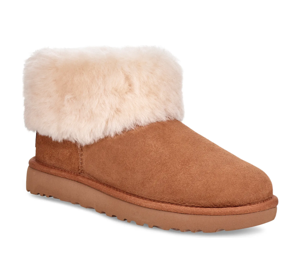 UGG Classic Mini Fluff Genuine Shearling Bootie. Image via Ugg.