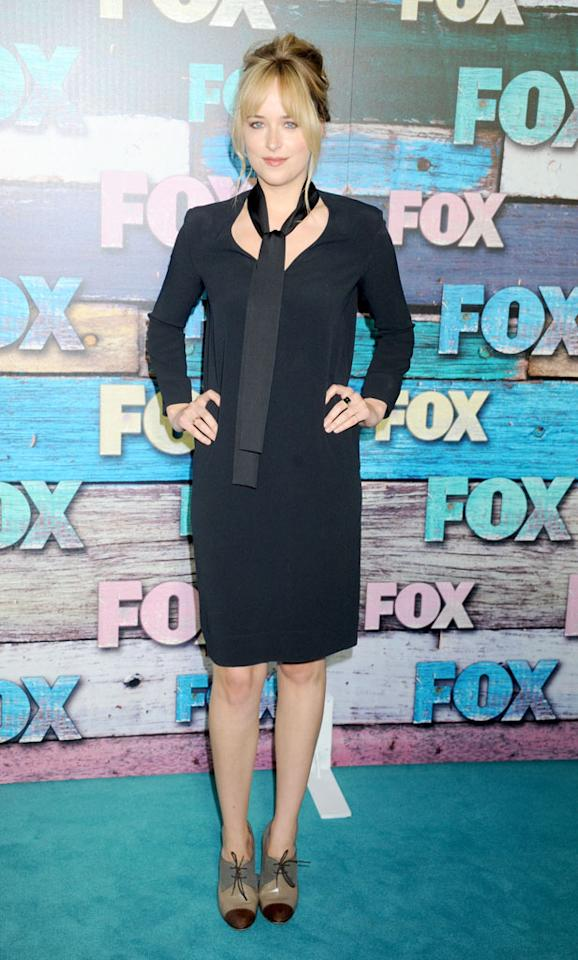 """Dakota Johnson (""""Ben and Kate"""") arrives at the Fox Summer 2012 All-Star Party on July 23, 2012 at the Soho House in West Hollywood, California."""
