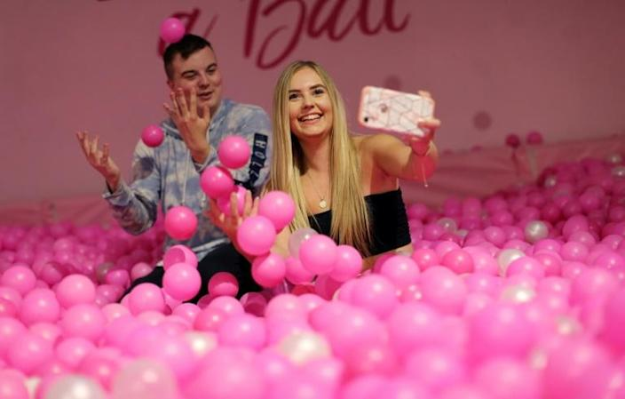 Young people make up most of the visitors, but The Selfie Factory attracts 60-somethings as well (AFP Photo/Isabel INFANTES)