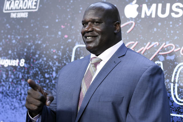 Shaquille O'Neal launched cash into the Georgia skies on Tuesday. (AP)