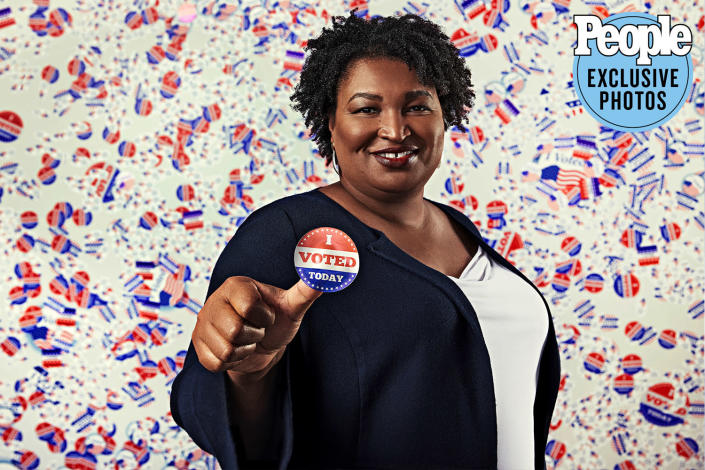 """<p>Abrams' name was everywhere this fall and winter as she helped mobilize 800,000 new voters in Georgia. """"It isn't my job to ensure one political ideology is dominant,"""" she says. """"It is my job to solve the problems that people face."""" Her efforts helped spur more necessary conversations about the importance of — and challenges to — voting rights. </p>"""
