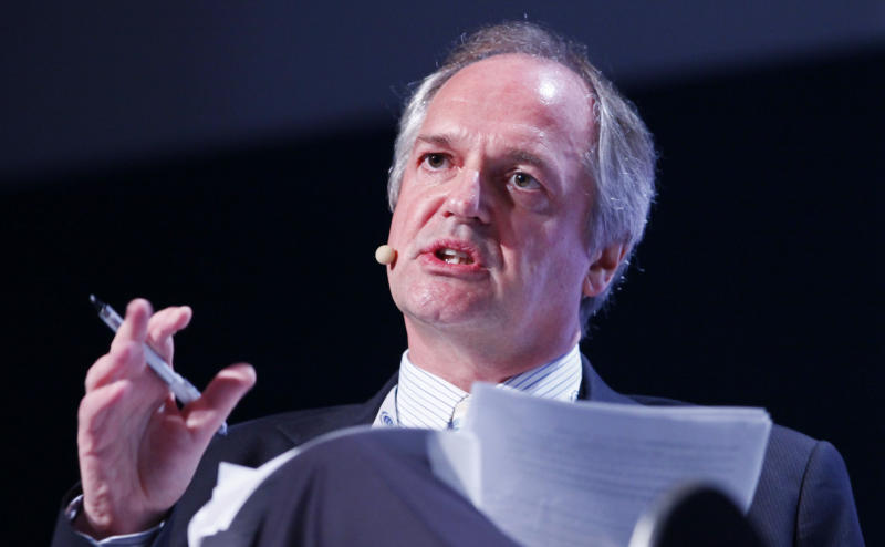 Paul Polman, CEO of Unilever, speaks at the Global Compact Leaders Summit, Thursday, June 24, 2010 in New York. (AP Photo/Mark Lennihan)