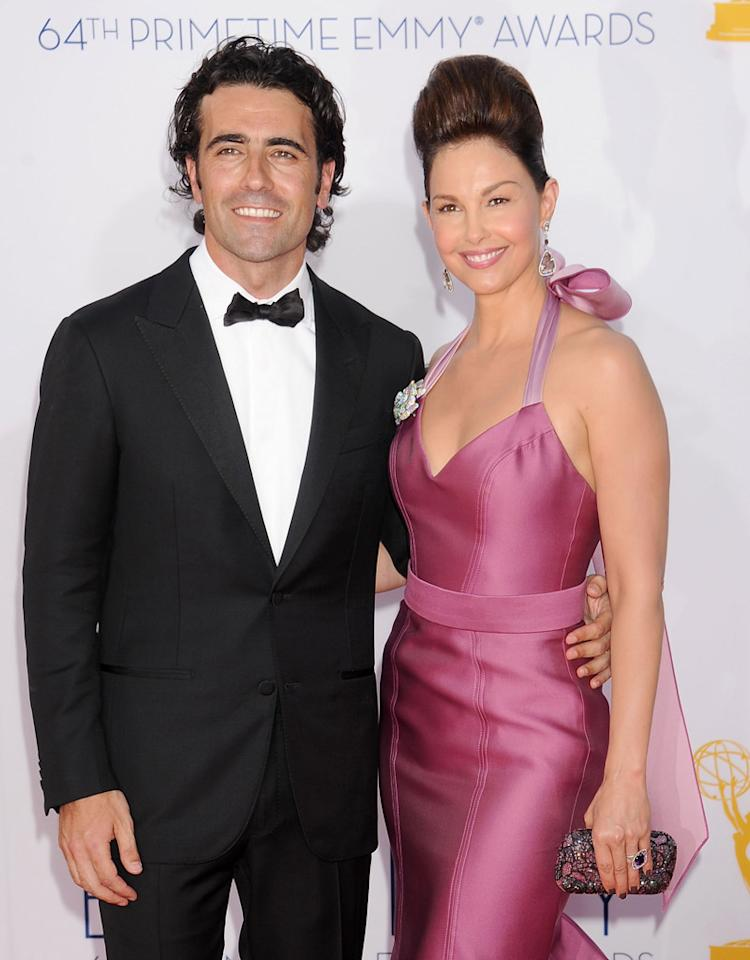 LOS ANGELES, CA - SEPTEMBER 23:  Racing driver Dario Franchitti and actress  Ashley Judd arrive at the 64th Primetime Emmy Awards at Nokia Theatre L.A. Live on September 23, 2012 in Los Angeles, California.  (Photo by Gregg DeGuire/WireImage)