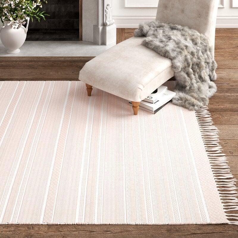 "<br><br><strong>Kelly Clarkson Home</strong> Southwestern Handwoven Cotton Tan Area Rug (6' x 9'), $, available at <a href=""https://go.skimresources.com/?id=30283X879131&url=https%3A%2F%2Fwww.wayfair.com%2Frugs%2Fpdp%2Fkelly-clarkson-home-birmingham-southwestern-handwoven-cotton-tan-area-rug-w003318324.html%3Fpiid%3D1249767371"" rel=""nofollow noopener"" target=""_blank"" data-ylk=""slk:Wayfair"" class=""link rapid-noclick-resp"">Wayfair</a>"