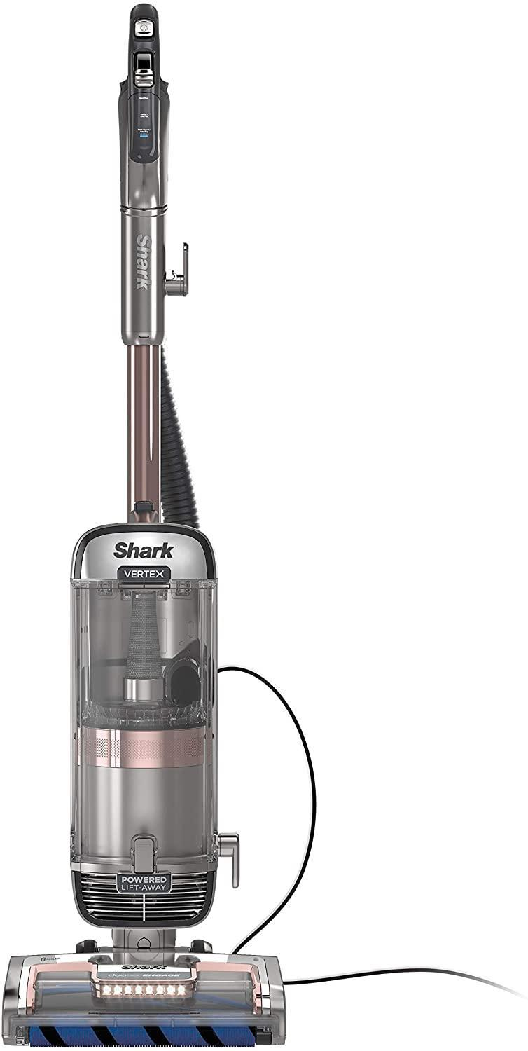 Shark AZ2002 Upright Vacuum Vertex DuoClean PowerFins with Powered Lift-Away Self-Cleaning Brushroll and HEPA Filter, 1 Quart Dust Cup Capacity, Rose Gold
