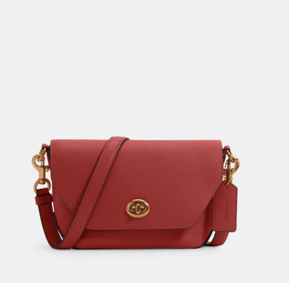 Karlee Crossbody in 1941 Red (Photo via Coach Outlet)