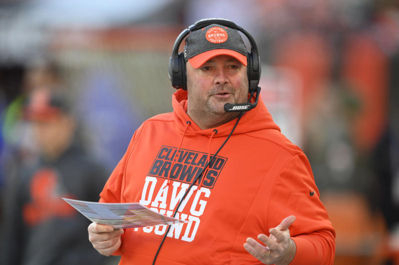 Cleveland Browns head coach Freddie Kitchens was fired after just one season. (AP Photo/David Richard)