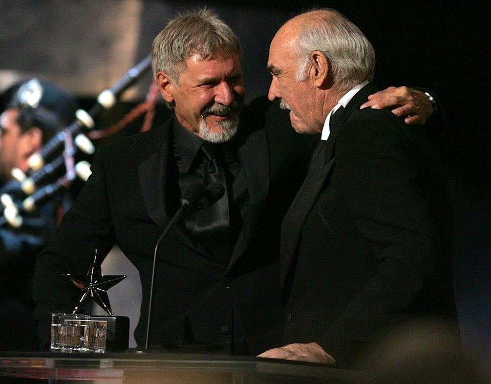 Harrison Ford y Sean Connery.