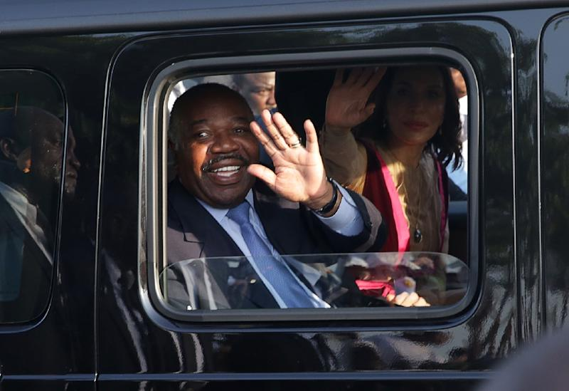 "Gabonese President Ali Bongo Ondimba (pictured March 2019) called for a smaller government, capable of being ""exemplary, honest and ethical"""