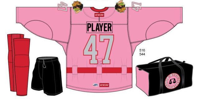 The back of the Rockford IceHogs' special Rockford Peaches jerseys. (SportsLogos.net)