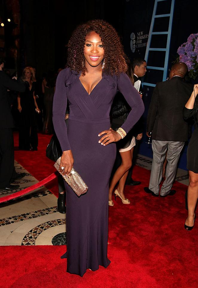 """Serena Williams showed off her signature curves at this year's New Yorkers for Children Fall Gala in an eggplant-colored gown. Would you classify the tennis titan's look as hot or not? Paul Zimmerman/<a href=""""http://www.wireimage.com"""" target=""""new"""">WireImage.com</a> - September 20, 2011"""