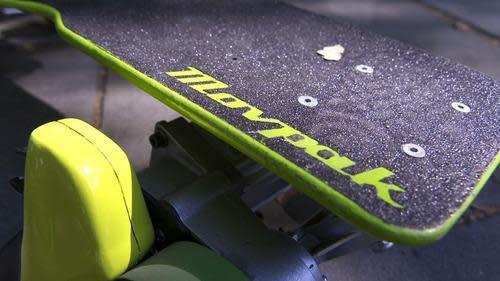 Close-up of Movpak skateboard deck