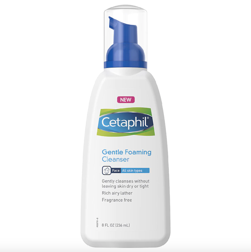 """Like its famous sibling, <a href=""""https://www.allure.com/review/cetaphil-gentle-skin-cleanser?mbid=synd_yahoo_rss"""" rel=""""nofollow noopener"""" target=""""_blank"""" data-ylk=""""slk:Cetaphil Gentle Skin Cleanser"""" class=""""link rapid-noclick-resp"""">Cetaphil Gentle Skin Cleanser</a>, it's no surprise the Cetaphil Gentle Foaming Cleanser keeps racking up both Best of Beauty and <a href=""""https://www.allure.com/story/readers-choice-winners?mbid=synd_yahoo_rss"""" rel=""""nofollow noopener"""" target=""""_blank"""" data-ylk=""""slk:Readers' Choice Awards"""" class=""""link rapid-noclick-resp"""">Readers' Choice Awards</a>. It gently removes makeup and dirt and doesn't contain any harsh fragrances or surfactants that'll leave your skin feeling dry and tight, making it perfect for everyday use on sensitive skin or conditions like <a href=""""https://www.allure.com/story/how-to-fix-rosacea?mbid=synd_yahoo_rss"""" rel=""""nofollow noopener"""" target=""""_blank"""" data-ylk=""""slk:rosacea"""" class=""""link rapid-noclick-resp"""">rosacea</a>. Vitamin B5 and <span>vitamin E</span> keep skin quenched and strengthen your skin's barrier. $16, Amazon. <a href=""""https://www.amazon.com/Gentle-Foaming-Cleanser-Pack-Fragrance/dp/B077FJJDVD"""" rel=""""nofollow noopener"""" target=""""_blank"""" data-ylk=""""slk:Get it now!"""" class=""""link rapid-noclick-resp"""">Get it now!</a>"""