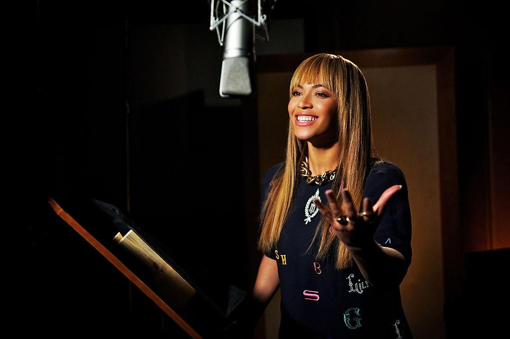 """Beyonce Knowles recording for 20th Century Fox's """"Epic"""" - 2013"""