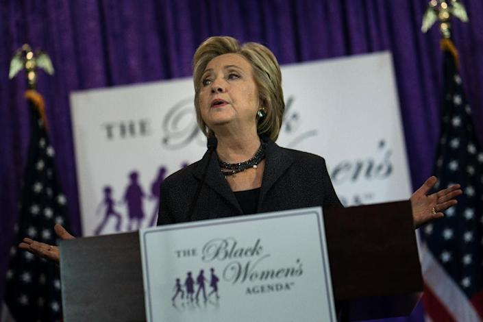 Democratic presidential nominee Hillary Clinton has called for a softening of immigration practices, saying she would deport only violent criminals and terrorists (AFP Photo/Brendan Smialowski)