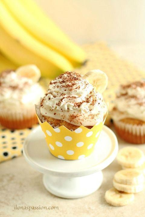 """<p>These moist cupcakes are topped with homemade pudding and whipped cream.</p><p><strong><a href=""""http://ilonaspassion.com/banana-cream-pie-cupcakes-from-scratch/"""" rel=""""nofollow noopener"""" target=""""_blank"""" data-ylk=""""slk:Get the recipe at Ilona's Passion."""" class=""""link rapid-noclick-resp"""">Get the recipe at Ilona's Passion.</a></strong></p>"""