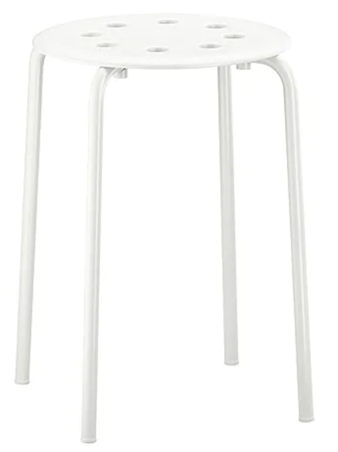 """<p>Not only is the MARIUS stool inexpensive, they're also pretty boring, if I do say. But when you spend under $6 on furniture, you can definitely afford to spend a little more spicing them up.</p><p><strong><a class=""""link rapid-noclick-resp"""" href=""""https://go.redirectingat.com?id=74968X1596630&url=https%3A%2F%2Fwww.ikea.com%2Fus%2Fen%2Fcatalog%2Fproducts%2F90184047%2F&sref=https%3A%2F%2Fwww.bestproducts.com%2Fhome%2Fg29514474%2Fbest-ikea-hacks%2F"""" rel=""""nofollow noopener"""" target=""""_blank"""" data-ylk=""""slk:BUY NOW"""">BUY NOW</a> <em>MARIUS Stool, </em></strong><em><strong>$6, ikea.com</strong></em></p>"""