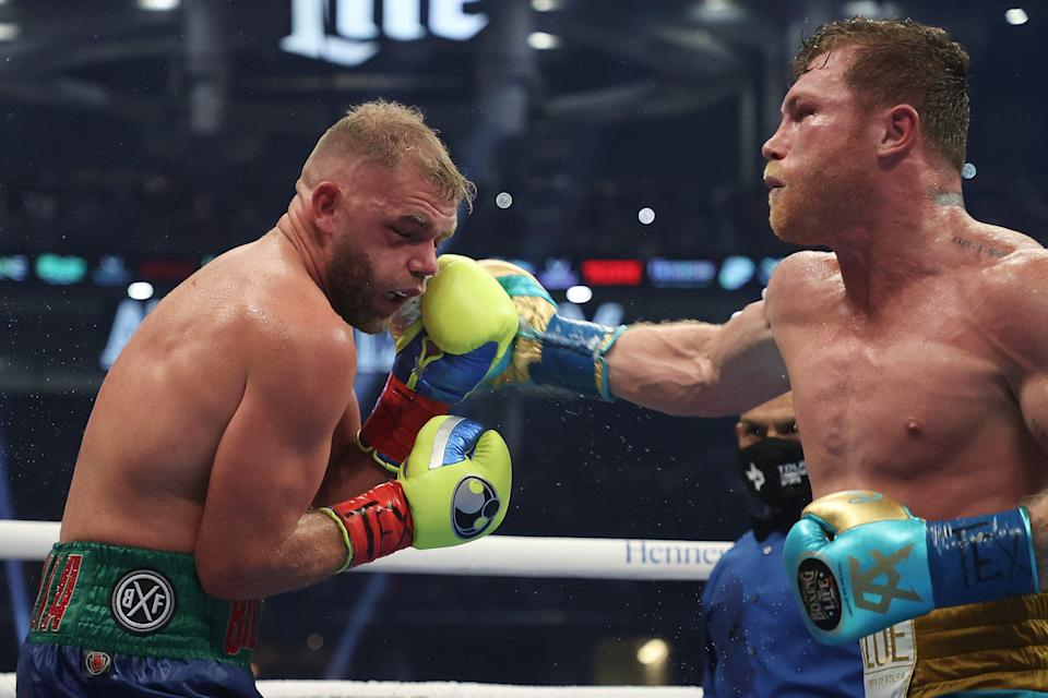 <p>Billy Joe Saunders suffered multiple fractures to his eye socket against Canelo Alvarez</p> (Getty Images)