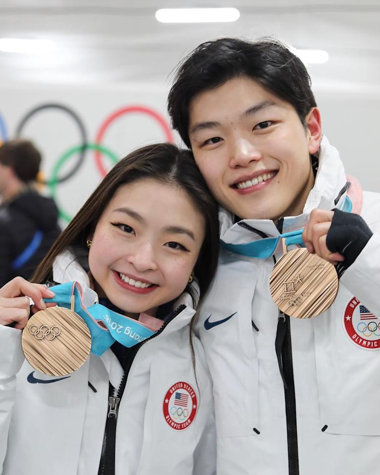 "<p>The ""ShibSibs"" are two-time Olympians and have skated together since 2004. Maia and Alex are the first Asian-American ice dancers to win an Olympic medal.<br /> (Photo via Instagram/maiashibutani) </p>"