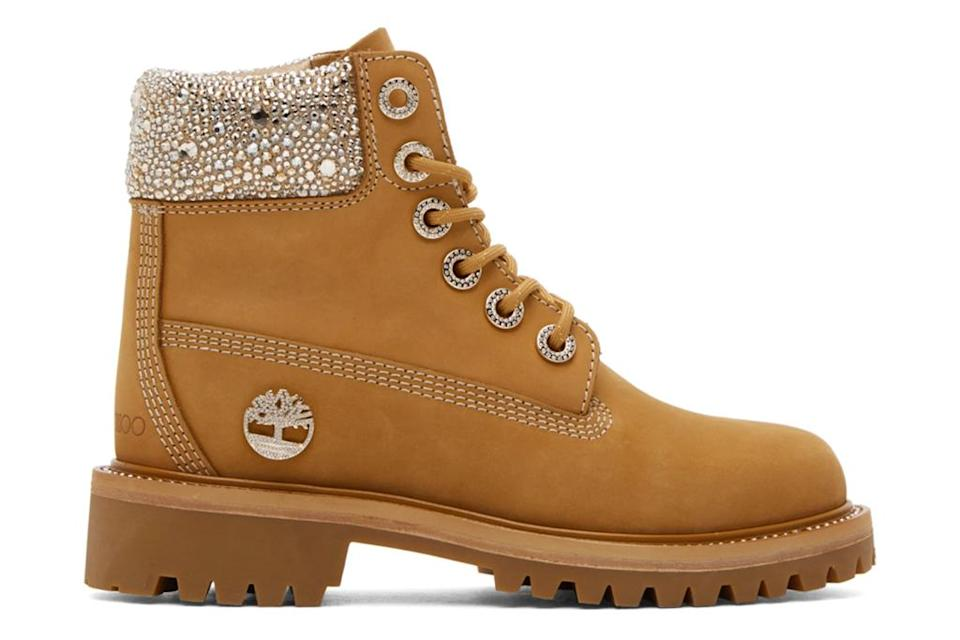 Jimmy Choo x Timberland 6-Inch Crystal boots. - Credit: Courtesy of Ssense