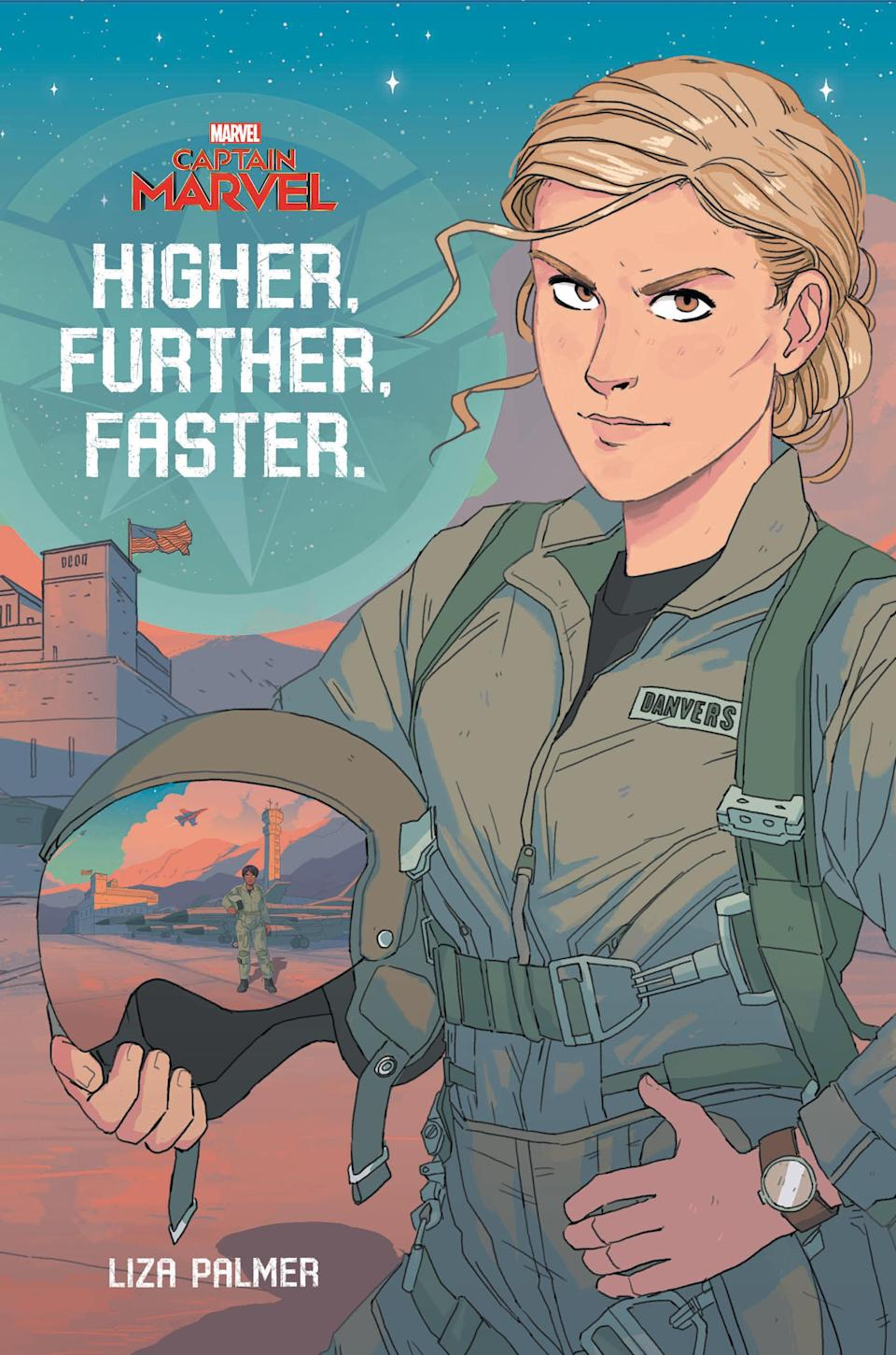 """<span>Focusing on Carol Danvers and Maria Rambeau in their Air Force pilot days, overcoming the """"boys club"""" mentality of the era, <em>Higher, Further, Faster</em> ($17.99) introduces the feisty heroine before she gains her superpowers. </span>(Photo: Disney)"""