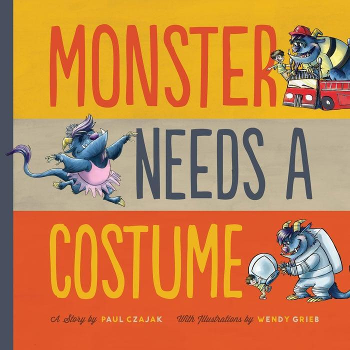 """<p><span><strong>Monster Needs a Costume</strong></span> ($6, originally $7) proves that every creature has a hard time deciding what to wear on <a class=""""link rapid-noclick-resp"""" href=""""https://www.popsugar.com/Halloween"""" rel=""""nofollow noopener"""" target=""""_blank"""" data-ylk=""""slk:Halloween"""">Halloween</a>. Your little ones will laugh out loud as Monster tries on an assortment of costumes, ranging from a fireman to a pretty ballerina.</p>"""