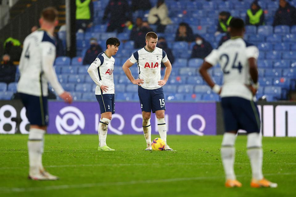 Tottenham Hotspur's Eric Dier (second from right) and Son Heung-min (second from left) during their match against Crystal Palace.