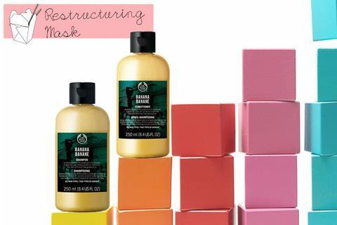 """<div class=""""caption-credit""""> Photo by: The Body Shop</div><b>Restructuring Take Out Option</b> <br> Try The Body Shop Banana shampoo ($8) and conditioner ($8) <br> <br> <a href=""""http://www.youbeauty.com/quizzes/hair-age"""" rel=""""nofollow noopener"""" target=""""_blank"""" data-ylk=""""slk:QUIZ: What's Your Hair Age?"""" class=""""link rapid-noclick-resp""""><b>QUIZ:</b> What's Your Hair Age?</a> <br> <br> <p> <a href=""""http://www.youbeauty.com/hair/hair-color-skintone"""" rel=""""nofollow noopener"""" target=""""_blank"""" data-ylk=""""slk:"""" class=""""link rapid-noclick-resp""""><br></a> </p>"""