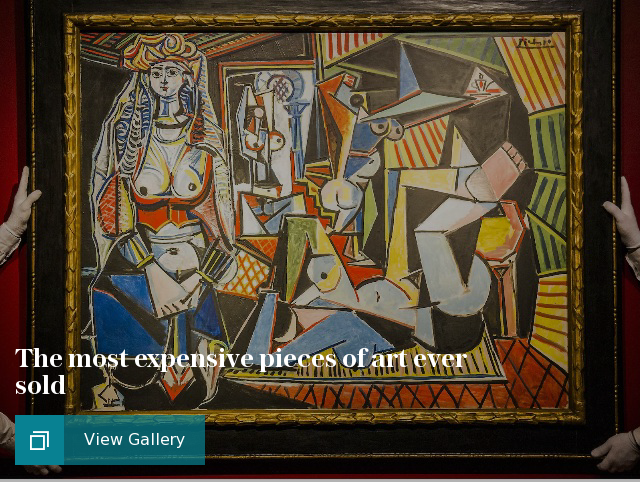 The most expensive pieces of art ever sold